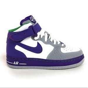 Nike Air Force 1 Purple Gray Mid Shoes 314195-100